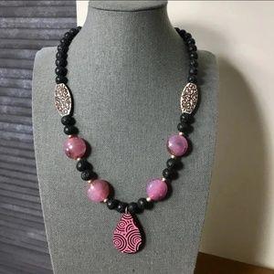 Jewelry - Black Lava Beads Necklace